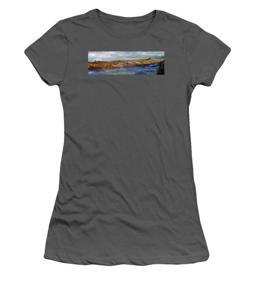 Women's T-Shirt (Junior Cut) featuring the painting Tranquility by Michael Helfen