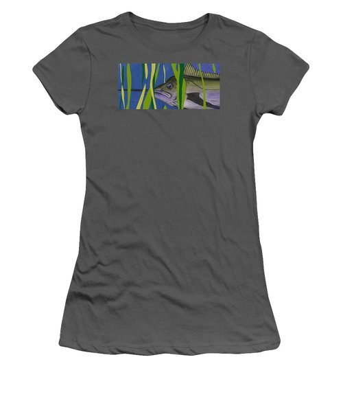 Women's T-Shirt (Junior Cut) featuring the mixed media Hiding Spot by Andrew Drozdowicz