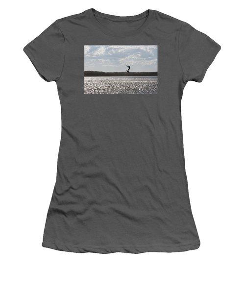 Women's T-Shirt (Athletic Fit) featuring the photograph High Jump  by Miroslava Jurcik