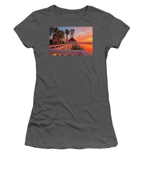 Historic Bridge Street Pier Sunrise Women's T-Shirt (Athletic Fit)