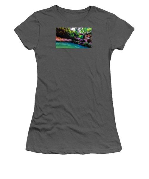 Women's T-Shirt (Junior Cut) featuring the photograph Hocking Hills State Park 4 by Brian Stevens