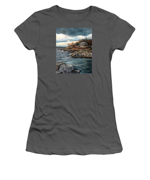 Hodgkins Cove Gloucester Ma Women's T-Shirt (Athletic Fit)