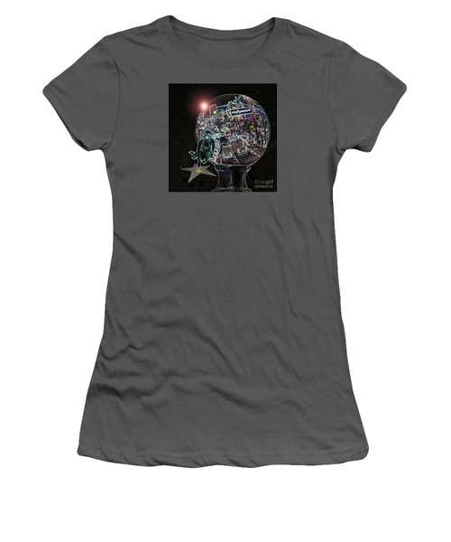 Women's T-Shirt (Junior Cut) featuring the photograph Hollywood Dreaming Marilyn's Star by Cheryl Del Toro