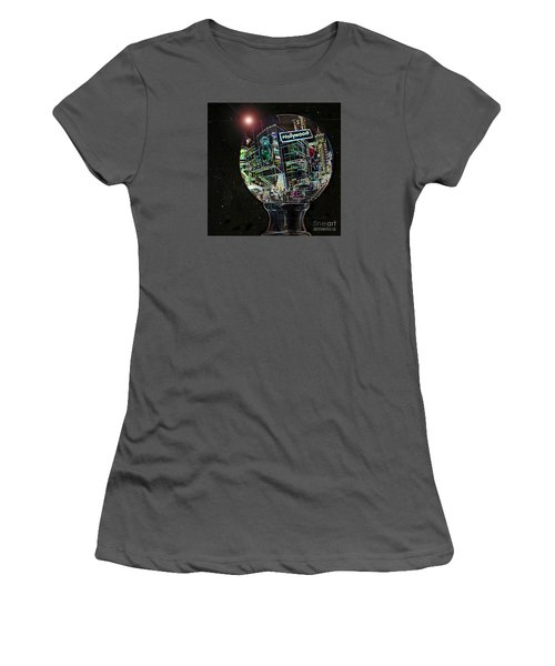 Women's T-Shirt (Junior Cut) featuring the photograph Hollywood Dreaming - Walk Of Fame by Cheryl Del Toro