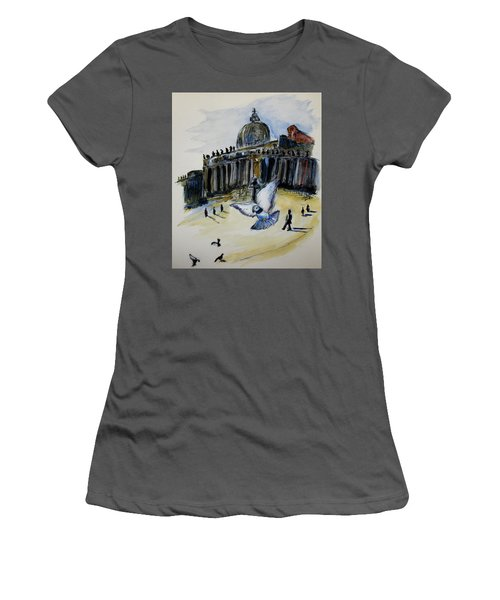 Holy Pigeons Women's T-Shirt (Athletic Fit)