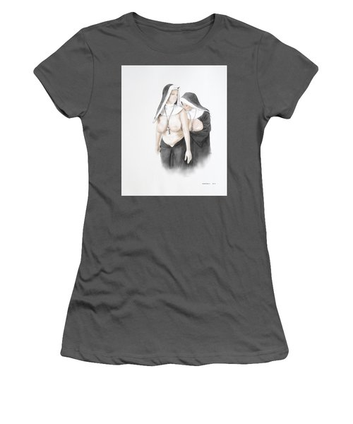 Women's T-Shirt (Junior Cut) featuring the mixed media Homophobia by TortureLord Art