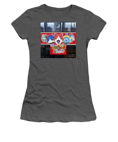 Women's T-Shirt (Junior Cut) featuring the photograph Hong Kong Bus by Randall Weidner