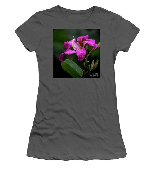 Hong Kong Orchid Women's T-Shirt (Athletic Fit)