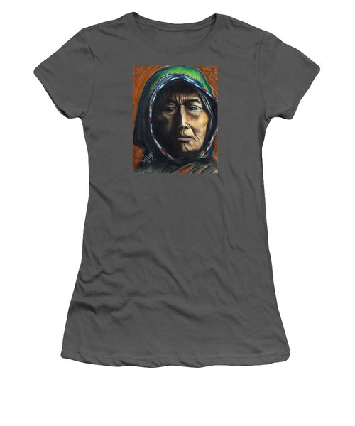 Hooded Woman Women's T-Shirt (Athletic Fit)