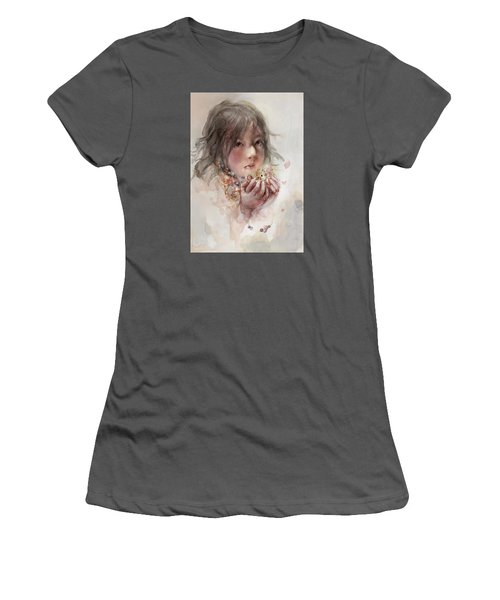 Women's T-Shirt (Junior Cut) featuring the digital art Hope by Te Hu