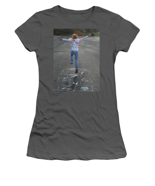 Women's T-Shirt (Junior Cut) featuring the photograph Hopscotch Queen by Richard Bryce and Family