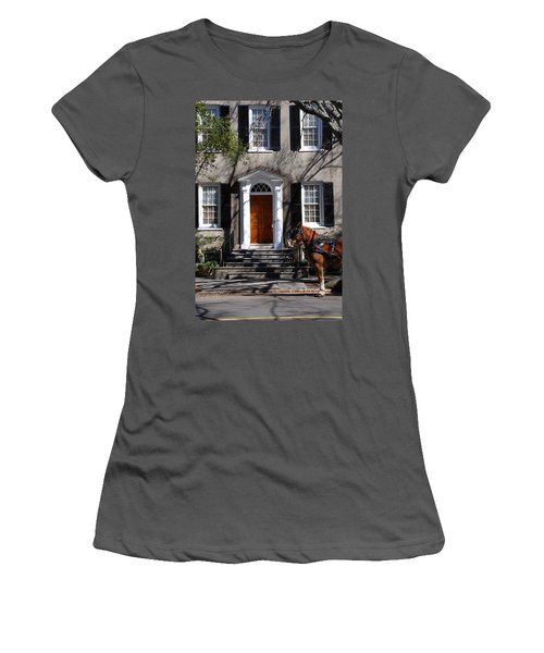 Horse Carriage In Charleston Women's T-Shirt (Athletic Fit)