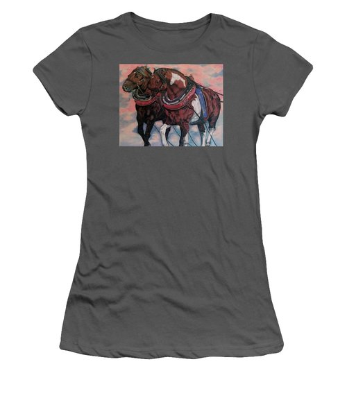 Horse Power Women's T-Shirt (Athletic Fit)