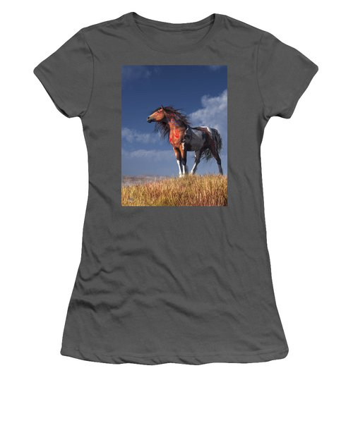 Horse With War Paint Women's T-Shirt (Athletic Fit)