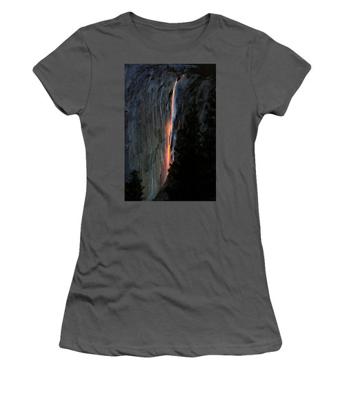 Horsetail Falls Aglow Women's T-Shirt (Athletic Fit)