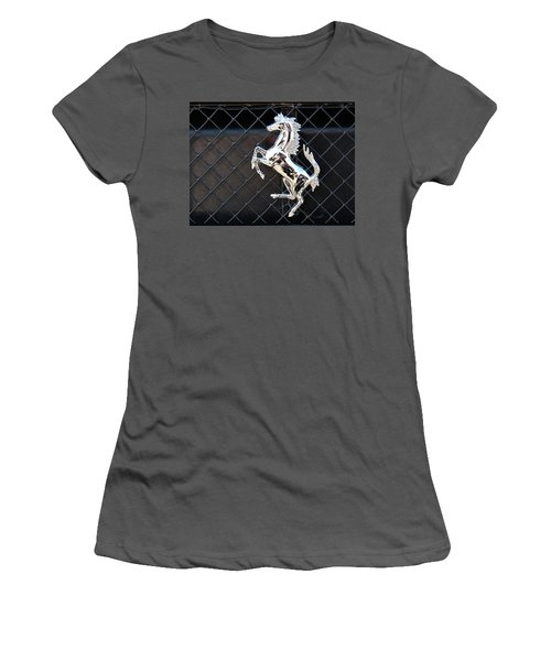 Women's T-Shirt (Athletic Fit) featuring the photograph Horsey by John Schneider