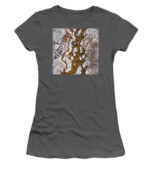 Hot Cascades Abstract Women's T-Shirt (Athletic Fit)