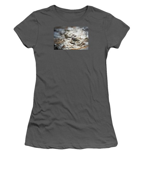 Women's T-Shirt (Junior Cut) featuring the photograph House Fly by Chevy Fleet