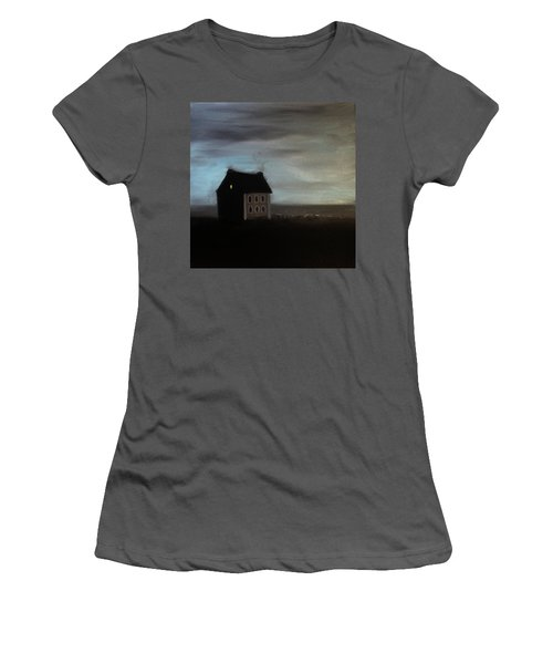 Women's T-Shirt (Junior Cut) featuring the painting House On The Praerie by Tone Aanderaa