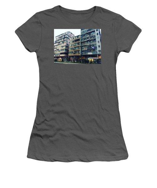 Houses Of Kowloon Women's T-Shirt (Junior Cut) by Florian Wentsch
