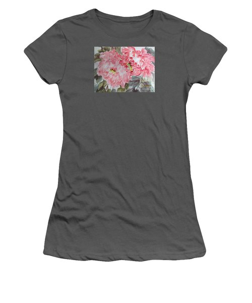 Women's T-Shirt (Junior Cut) featuring the painting Hp11192015-0761 by Dongling Sun
