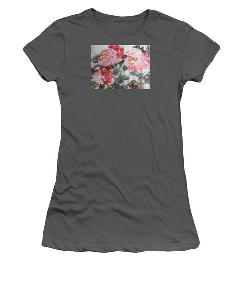 Women's T-Shirt (Junior Cut) featuring the painting Hp11192015-0762 by Dongling Sun