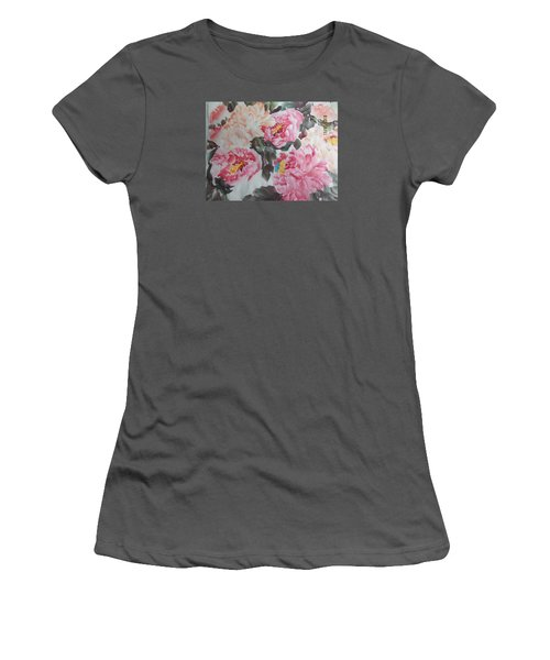 Women's T-Shirt (Junior Cut) featuring the painting Hp11192015-0767 by Dongling Sun