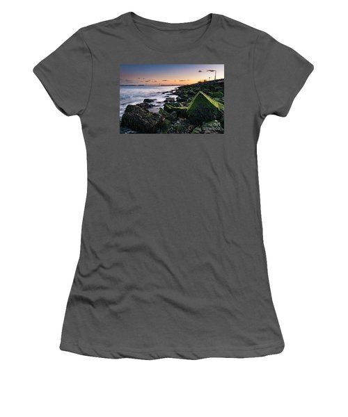 Hudson River And Verrazano-narrows Bridge Women's T-Shirt (Athletic Fit)