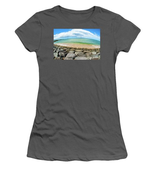 Women's T-Shirt (Junior Cut) featuring the photograph Huge Wikiki Beach by Micah May