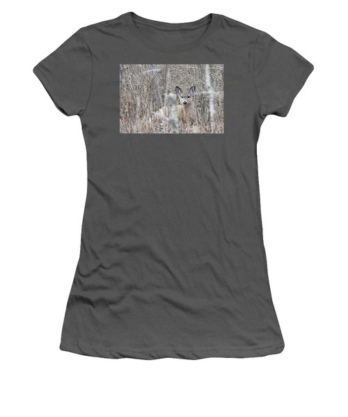 Hunkered Down Women's T-Shirt (Athletic Fit)