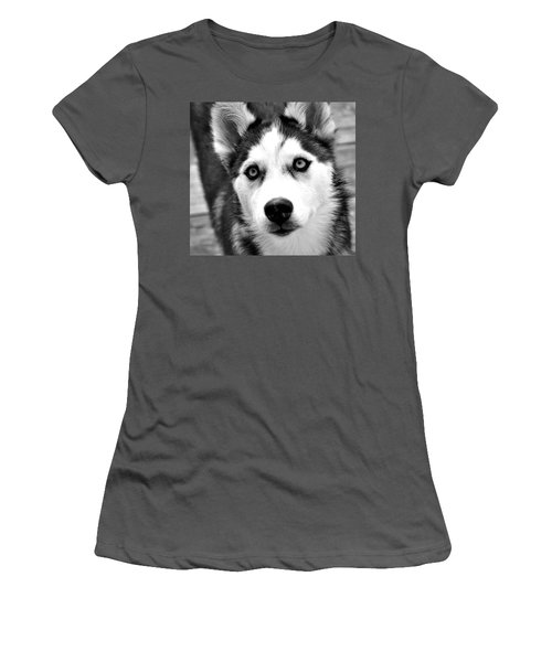 Husky Pup Women's T-Shirt (Athletic Fit)