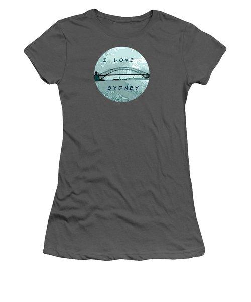 I Love Sydney Women's T-Shirt (Athletic Fit)