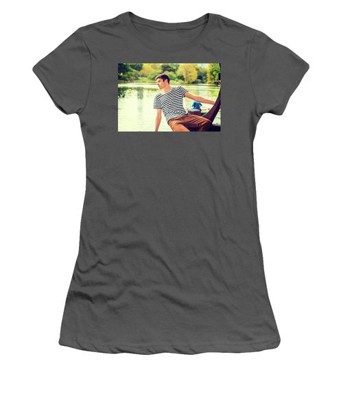I Missing You And Waiting For You Women's T-Shirt (Athletic Fit)