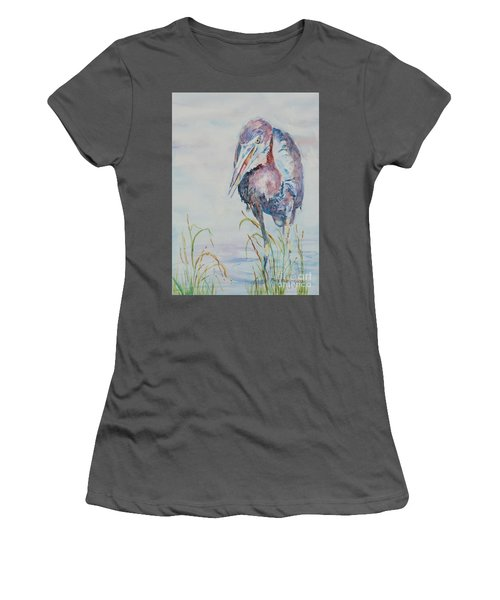 Women's T-Shirt (Junior Cut) featuring the painting I See Lunch by Mary Haley-Rocks