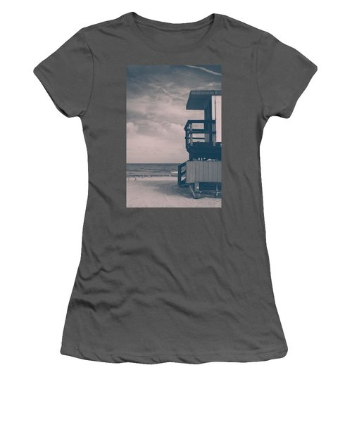 Women's T-Shirt (Junior Cut) featuring the photograph I Was Checkin' On The Surfin' Scene by Yvette Van Teeffelen