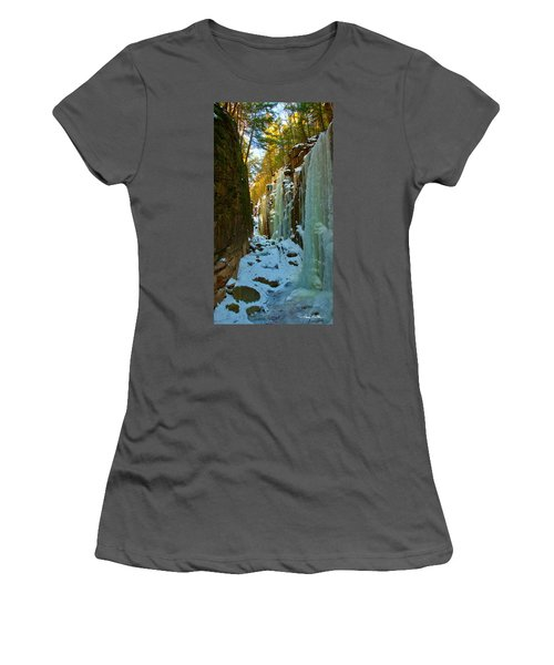 Ice At The Flume Women's T-Shirt (Athletic Fit)