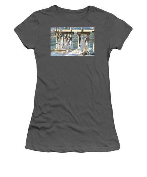 Ice Covered Pilings Women's T-Shirt (Athletic Fit)