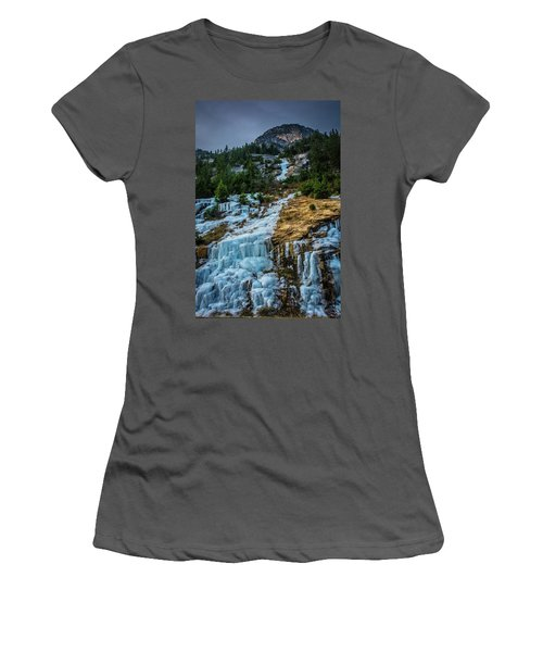 Ice Fall Women's T-Shirt (Athletic Fit)