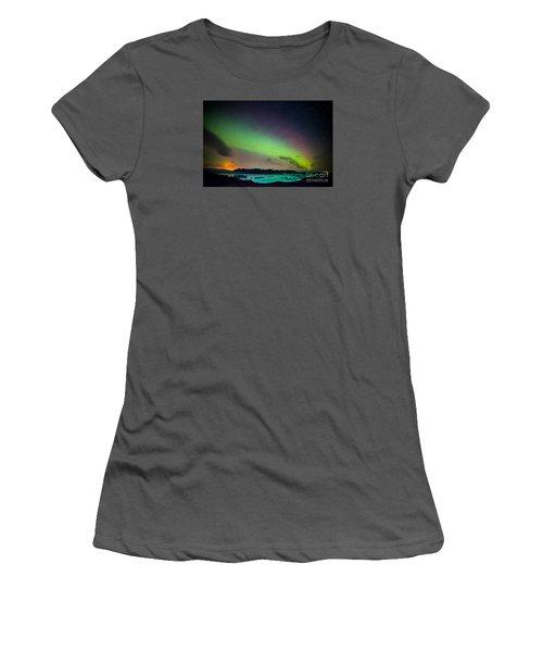 Icelandic Lights  Women's T-Shirt (Junior Cut) by Mariusz Czajkowski