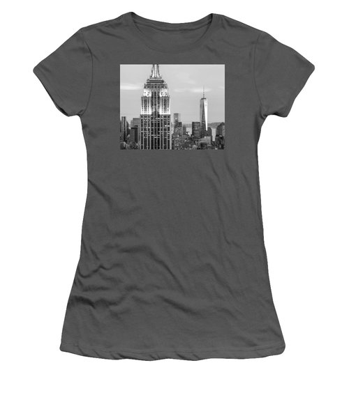 Iconic Skyscrapers Women's T-Shirt (Athletic Fit)