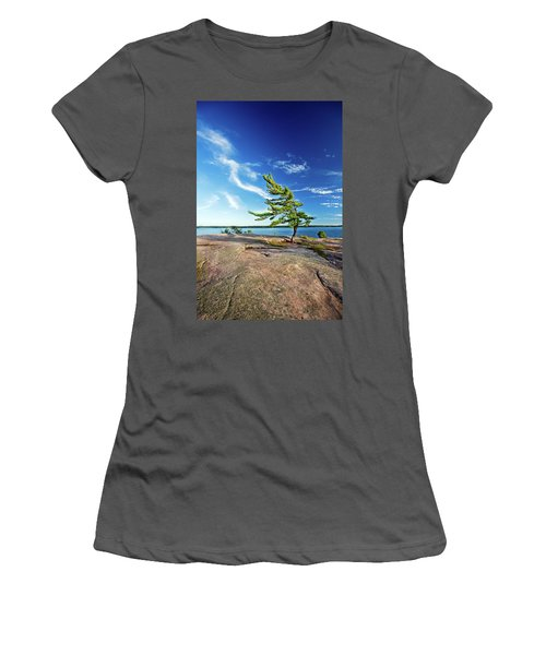 Iconic Windswept Pine Women's T-Shirt (Athletic Fit)