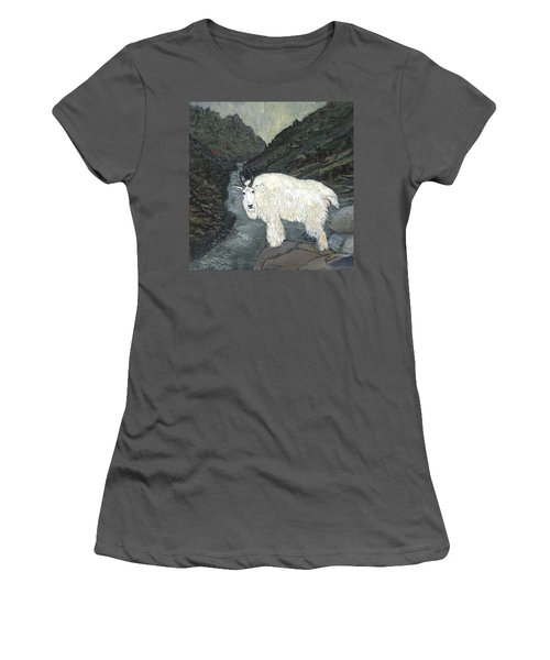Idaho Mountain Goat Women's T-Shirt (Athletic Fit)