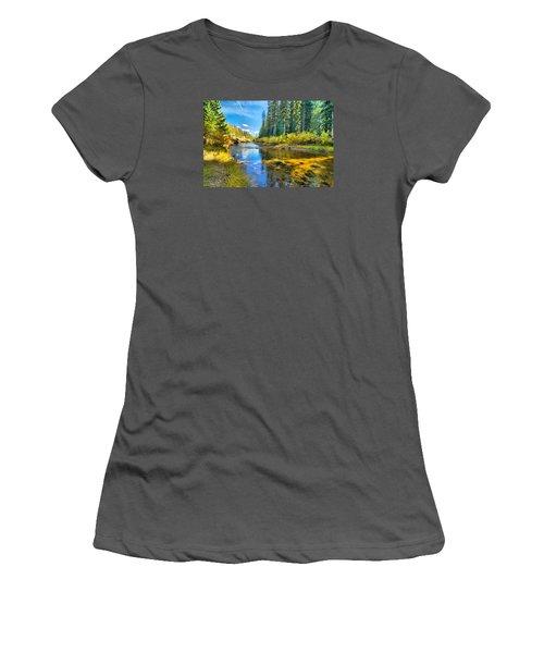 Idaho Stream 2 Women's T-Shirt (Junior Cut) by Josephine Buschman