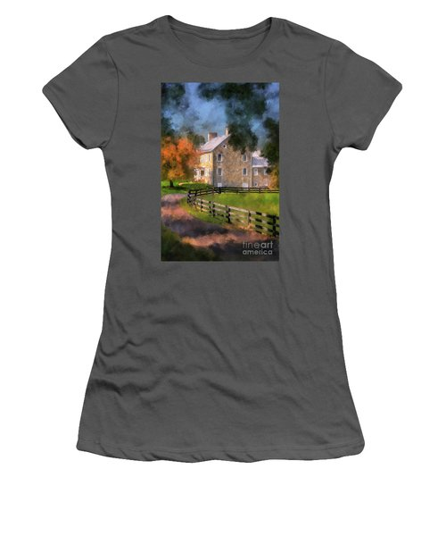 Women's T-Shirt (Athletic Fit) featuring the digital art If These Walls Could Talk  by Lois Bryan