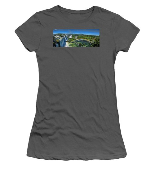Iguazu Panorama Women's T-Shirt (Athletic Fit)