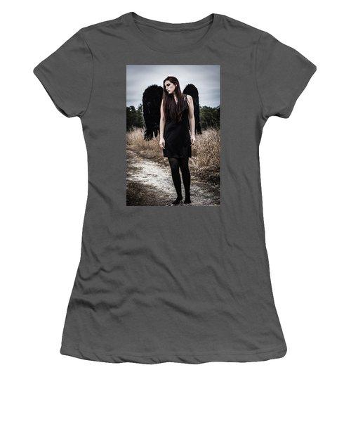 Women's T-Shirt (Junior Cut) featuring the photograph I'm No Angel by Brian Hughes