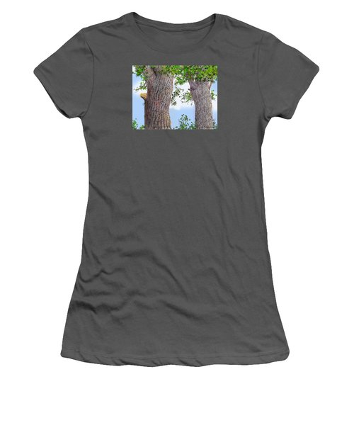 Women's T-Shirt (Junior Cut) featuring the drawing Imaginary Trees by Jim Hubbard