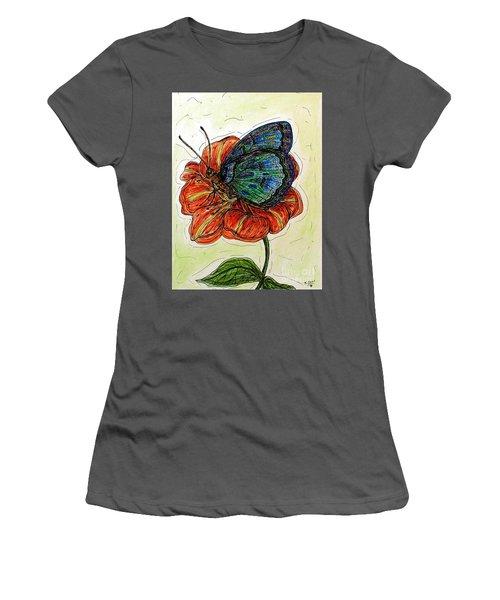 Imagine Butterflies A Women's T-Shirt (Athletic Fit)