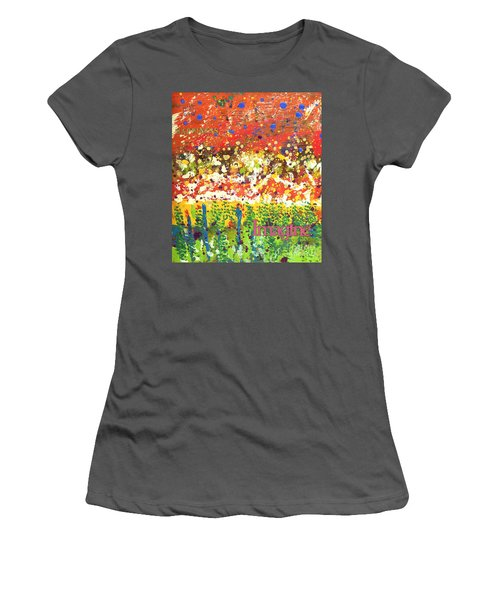 Imagine Happiness Women's T-Shirt (Athletic Fit)