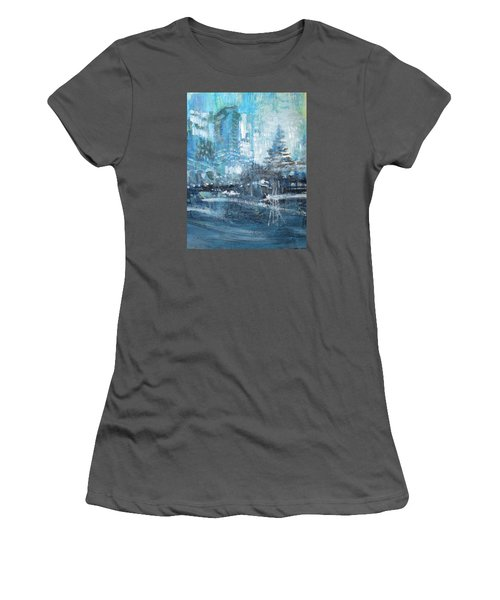 In A Winter Urban Park Women's T-Shirt (Athletic Fit)